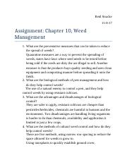 Assignment Chapter 10 Weed Management.docx