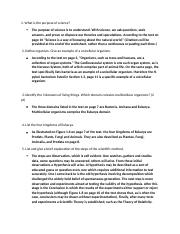 Biology Worksheet 1