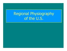 Class 2 - Physiographic Province Overview