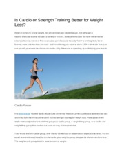 Is Cardio or Strength Training Better for Weight Loss