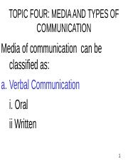 TOPIC 4 _VERBAL AND NONVERBAL COMM