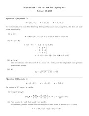 MA 225 Spring 2015 Test 1 Version B Solutions