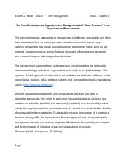 AB140 Contemporay Approaches to Management........       Unit 2 Chapter 3.doc