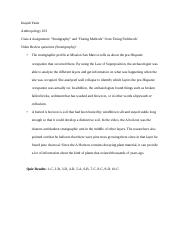 ANTH103 Class 4 Assignment