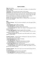 Quit Smoking Speech Outline