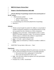 BMGT470 Chapter 2 Review Sheet