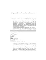 CPSC 500 Fall 2014 Assignment 3 Solutions