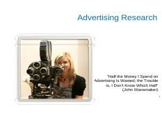 4. Advertising Research