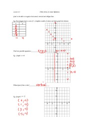 math 9 linear relations notes