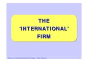 The international firm