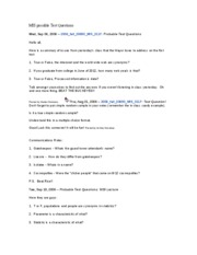 Exam 1 -  Possible Test Questions [Version 2] - Fall 2006 - Cleveland