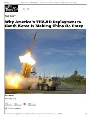 Why America's THAAD Deployment to South Korea Is Making China Go Crazy _ The National Interest Blog.