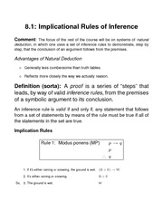 Implicational Rules of Inference