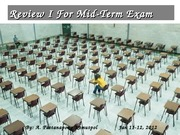 Review for Mid Term Exam