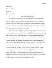 Shakes. Paper #3 (King Lear)