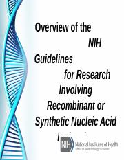 Overview of the NIH Guidelines.ppt
