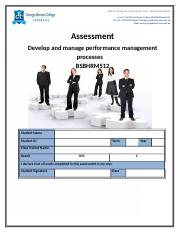 Assessment - Develop and manage performance mgmt BSBHRM512.docx