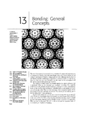 Chapter 13 - Bonding General Concepts