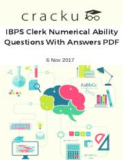 IBPS Clerk Numerical Ability Questions With Answers PDF (1).pdf
