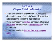 04. Yield to Maturity, Generalizations and Curve Fitting