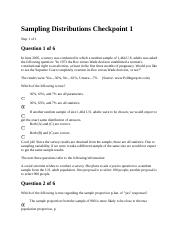 Sampling Distributions Checkpoint 1.docx