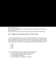 Solutions exam 5