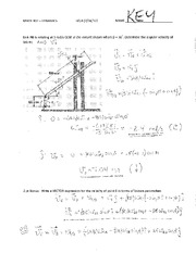 MECH 102 (DQ) Quiz B With KEY Student Solution 2012