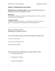 marketing and advertising outline