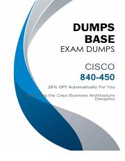 DumpsBase New 840-450 Exam Dumps V8.02.pdf