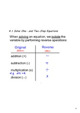 solving one step two step equations
