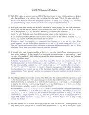 Homework 5 Solution Spring 2015 on Number Theory
