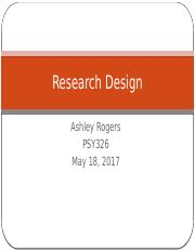 AR Psy 326 research design week 2 disccusion.pptx