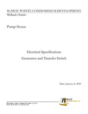 Electrical Specification for Generator and Transfer Switcht