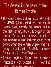 WEEK 10 Lecture 22 Book 6 of Virgil and Aeneid