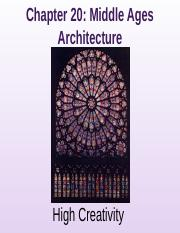 20 Middle Ages Architecture