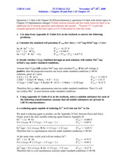 electrochemistry pre lab questions Lab 10: redox reactions  redox chemistry is the basis of the field called electrochemistry it should be easy to see  questions: 1 what happens if you switch .