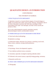 What Is Qualitative Design