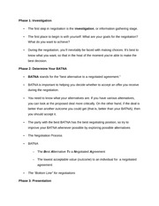 Notes on Steps to Negotiation 1