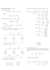 Exam 3 Stuy Guide Solution on Engineering Mathematics III (Numerical Methods) Spring 2009