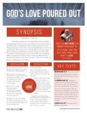 God's Love Poured Out Study Guide