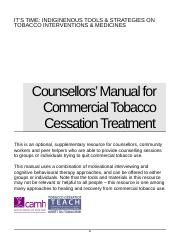 Counsellors' Guide to Cessation Treatment.doc