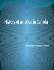 History of aviation in Canada ...pptx
