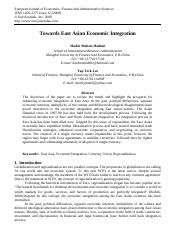 East Asian Economic integration.pdf