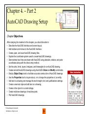 Lecture 1- Part 2 2017 - AutoCAD Drawing Setup