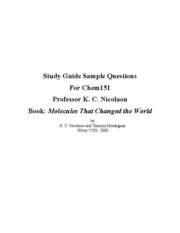 CHEM 151 study guide for all chapters