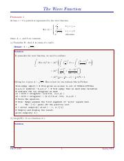 8-191328556-Selected-Solutions-Griffiths-QM-Chapter-1 pdf - The Wave