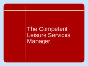 Leisure services management chapter 01