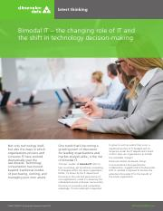 Bimodal IT Latest Thinking.pdf