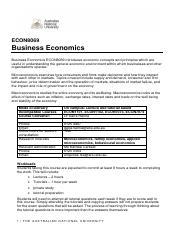 ECON8069 Course Outline sem 2 2016-2