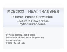 Heat transfer Chapter 7 lecture 2